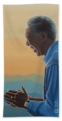 Jack Nicholson And Morgan Freeman Beach Towel
