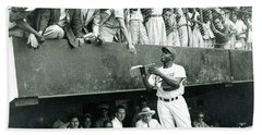 Jackie Robinson Signs Autographs Vintage Baseball Beach Towel