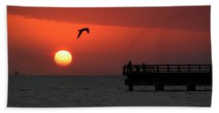 Jacks Sunrise Beach Towel by Leticia Latocki