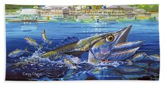 Jacksonville Kingfish Off0088 Beach Sheet by Carey Chen