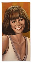 Jacqueline Bisset Painting Beach Towel