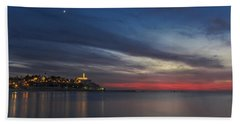 Beach Towel featuring the photograph Jaffa On Ice by Ron Shoshani