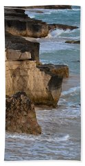 Jagged Shore Beach Towel