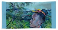 Beach Sheet featuring the painting Jamaica. Part Two by Anna  Duyunova