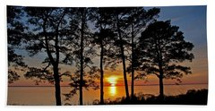 James River Sunset Beach Sheet by Suzanne Stout