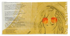 Janis Joplin Song Lyrics Bobby Mcgee Beach Towel