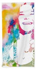 Janis Joplin Watercolor Beach Towel