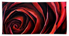 January Rose Beach Towel