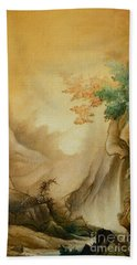 Japanese Autumn Beach Towel
