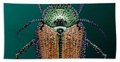 Japanese Beetle Bedazzled II Beach Sheet