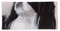 Japanese Chin Painting Beach Towel