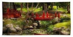 Japanese Garden - Meditation Beach Towel