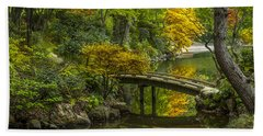 Beach Towel featuring the photograph Japanese Garden by Sebastian Musial