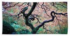 Japanese Maple In Autumn Beach Towel