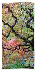 Japanese Maple Beach Towel by Wendy McKennon