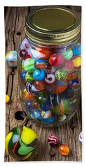 Jar Of Marbles With Shooter Beach Towel
