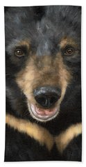 Jasper Moon Bear - In Support Of Animals Asia Beach Towel by Rachel Stribbling