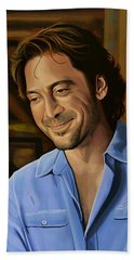 Javier Bardem Painting Beach Towel