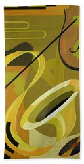 Jazz Beach Towel by Carolyn Hubbard-Ford