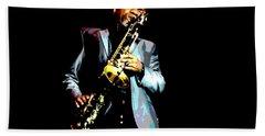 Jazzman Beach Sheet by Deena Stoddard