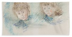Jean-pierre Hoschede And Michel Monet Pastel Beach Towel