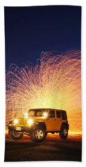 Jeep Wrangler And Steel-wool 2am-116085-1106087_stacked Beach Towel
