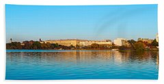 Jefferson Memorial And Washington Beach Towel