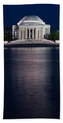 Jefferson Memorial Washington D C Beach Sheet by Steve Gadomski