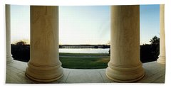 Jefferson Memorial Washington Dc Beach Sheet by Panoramic Images