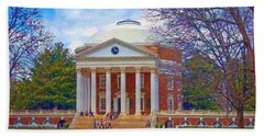 Jefferson's Rotunda At Uva Beach Towel