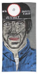 Beach Sheet featuring the painting Jeffrey The Coal Miner by Jeffrey Koss