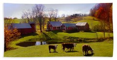 Jenne Farm In Autumn Beach Sheet