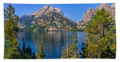 Jenny Lake Overlook Beach Towel