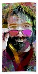 Jerry Garcia Art Beach Towel