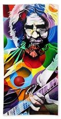 Jerry Garcia In Bubbles Beach Towel by Joshua Morton