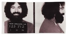 Jerry Garcia Mugshot Beach Towel