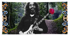 Jerry Road Rose 1 Beach Towel