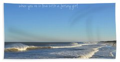 Jersey Girl Seaside Heights Quote Beach Sheet