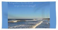Jersey Girl Seaside Heights Quote Beach Towel