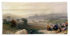 Jerusalem, April 1839 Beach Towel by David Roberts