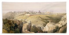 Jerusalem From The Mount Of Olives Beach Towel
