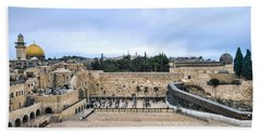 Jerusalem The Western Wall Beach Sheet by Ron Shoshani