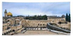 Jerusalem The Western Wall Beach Sheet