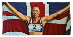 Jessica Ennis Beach Towel by Paul Meijering