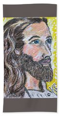 Jesus Christ Beach Sheet by Kathy Marrs Chandler
