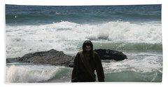 Jesus Christ- Look I Am Coming Soon Beach Towel