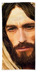 Jesus Of Nazareth Portrait Beach Towel