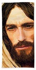 Jesus Of Nazareth Portrait Beach Sheet