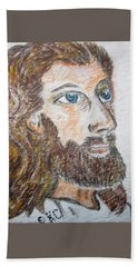 Jesus Our Saviour Beach Sheet by Kathy Marrs Chandler