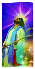 Jesus Rocks Beach Towel by Rob Corsetti